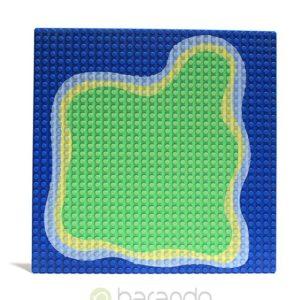 Lego Platte 3811pb01 Insel Grundplatte blau 32x32