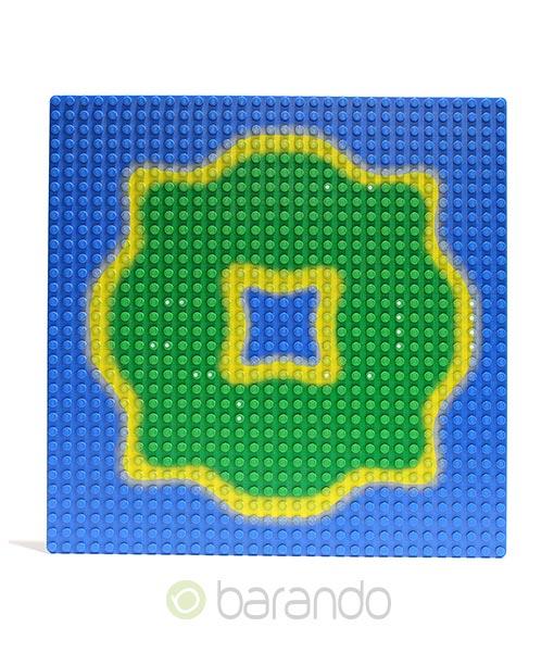 Lego Platte 3811pb02 Insel Grundplatte blau 32x32