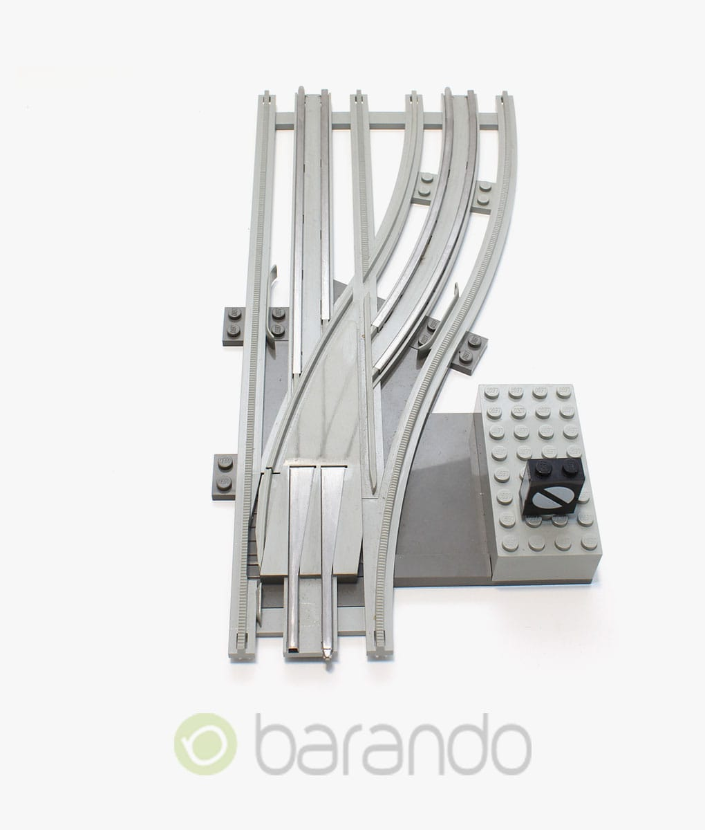 LEGO® 10x Schweller Schwellen 12V Eisenbahn Schienen Zug Alt-Dunkelgrau 4166