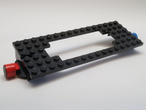 Black Train Base 6 x 16 Old with Magnets