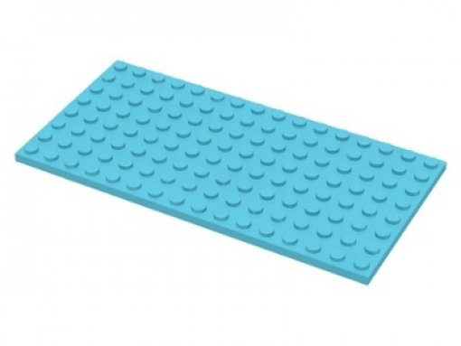LEGO 92438 Bauplatten 8 x 16 medium azure