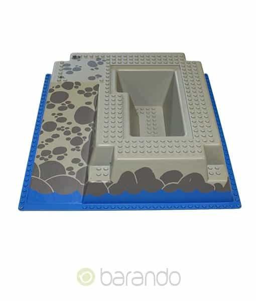 Lego 3d Platte 2552px3 blaue Burgrampe raised