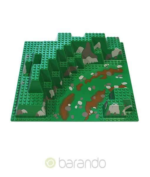 Lego 3d Platte 6024px4 Flussbett durch Canyon raised