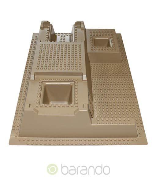 Lego 3d Platte 51542px2 als beige Pyramide
