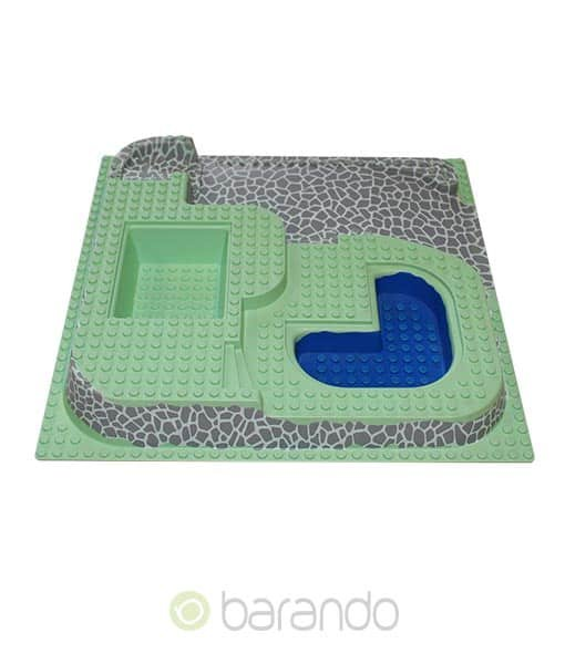 Lego 3d Platte 6092px2 Three Level mit Pool raised