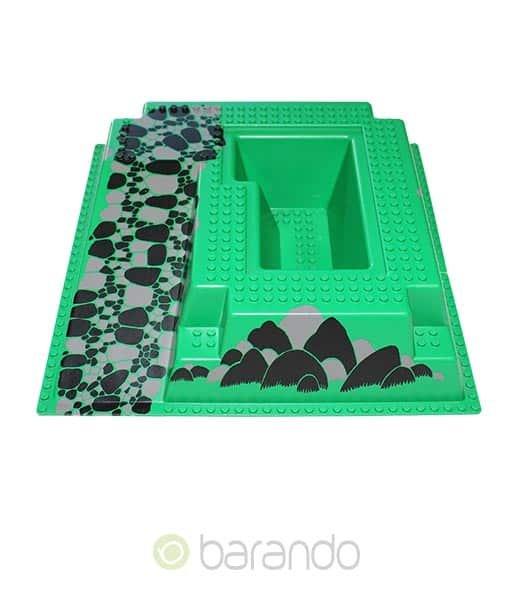 Lego 3d Platte 2552px5 grüne Rampe raised
