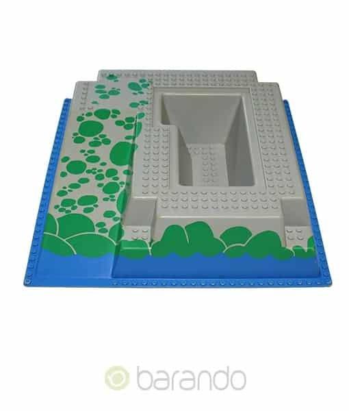 Lego 3d Platte 2552px4 blaue Burgrampe raised