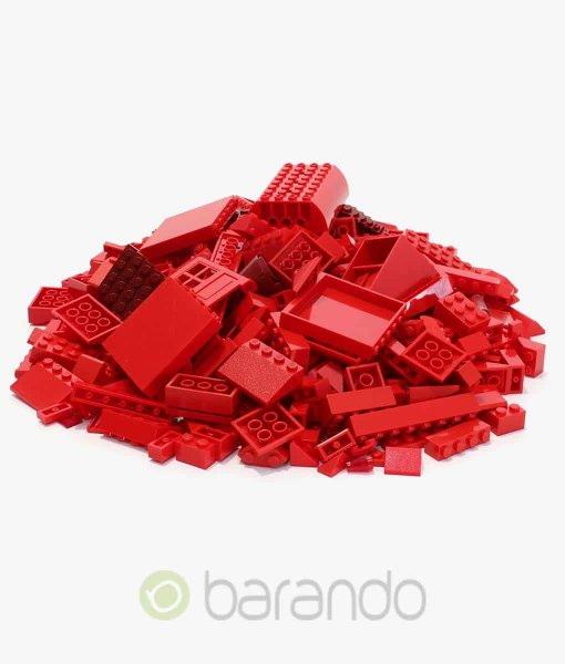 Lego Steine rot als bunt gemischte Kiloware