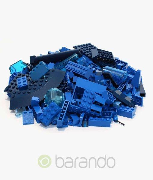 Lego Steine blau als bunt gemischte Kiloware