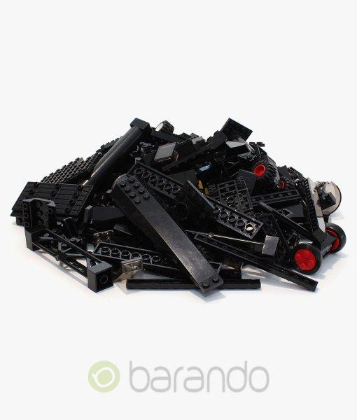 Lego Steine schwarz als bunt gemischte Kiloware
