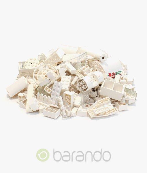 Lego Steine weiß als bunt gemischte Kiloware