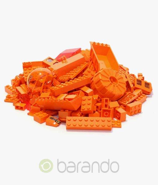 Lego Steine orange als bunt gemischte Kiloware