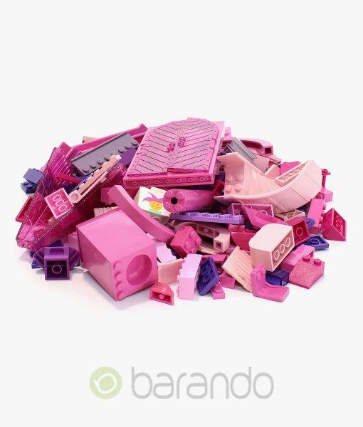 Lego Steine lila rosa als bunt gemischte Kiloware