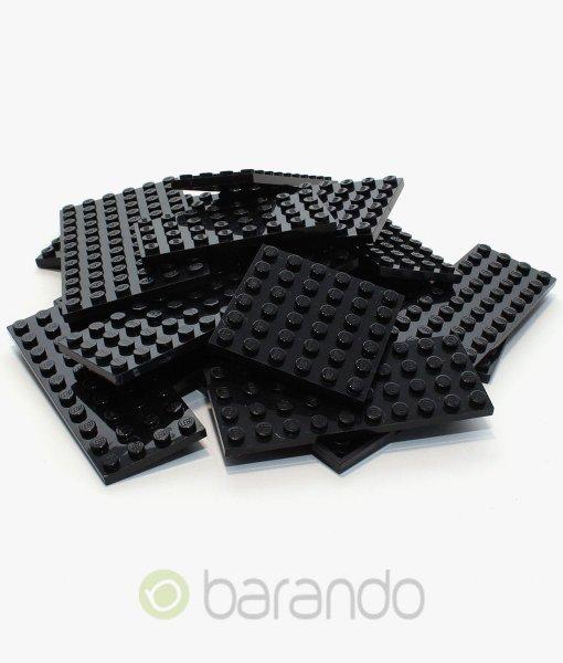 25 Lego Bauplatten schwarz bunt gemischt