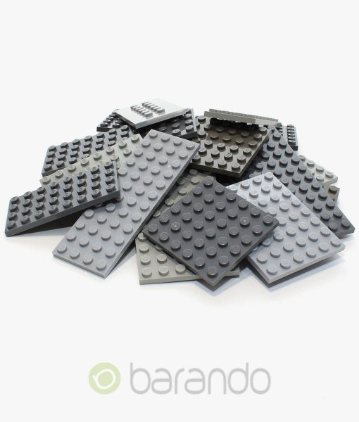 25x Lego Bauplatten grau bunt gemischt
