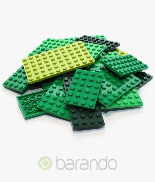 25 LEGO Bauplatten grün - gemischt