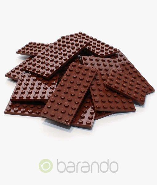 25 LEGO Bauplatten braun - gemischt
