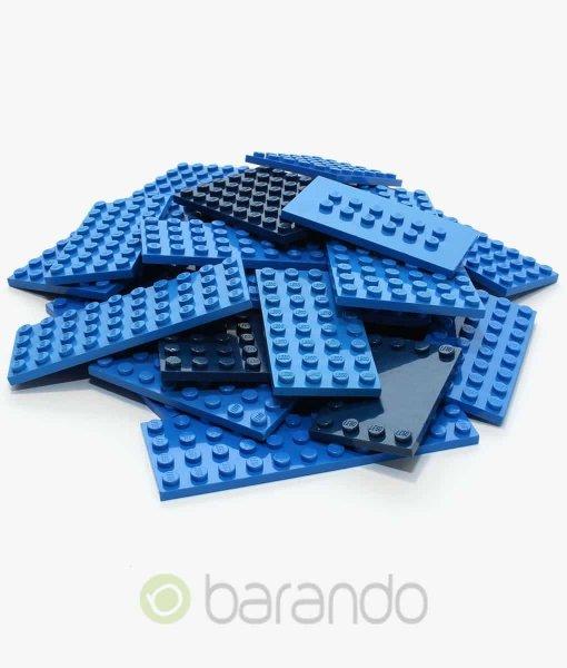 25 LEGO Bauplatten blau - gemischt