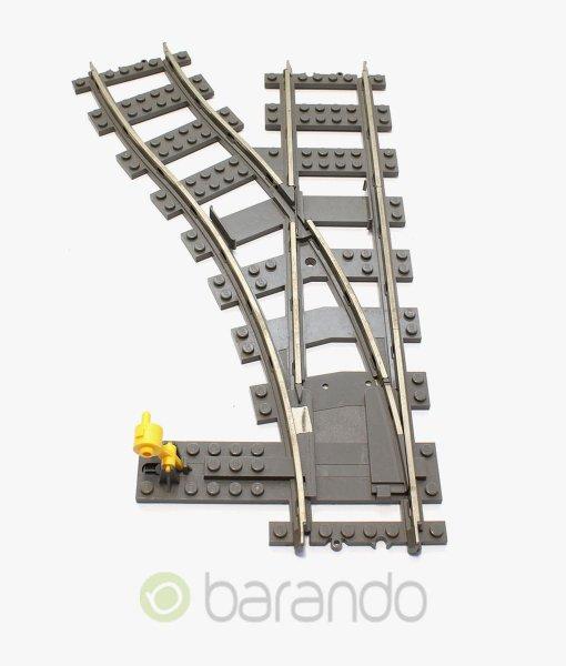 LEGO Eisenbahn Weiche 2861 - 9V Schiene