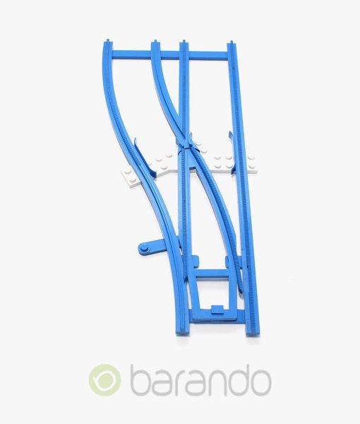 lego eisenbahn weiche x878cx1 Gleis blau links