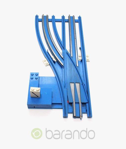 lego eisenbahn weiche sw12vleftM blau gebraucht