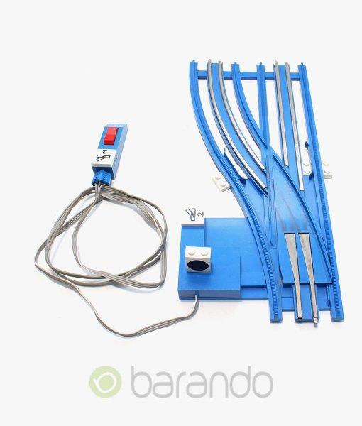 lego eisenbahn weiche sw12vleftA blau gebraucht