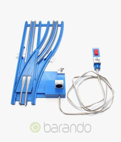 lego eisenbahn weiche sw12vrightA blau gebraucht