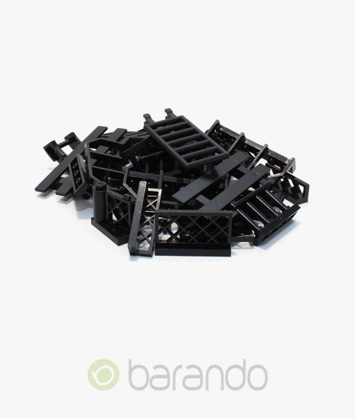 30-LEGO-Zaun-schwarz-gemischt-Fancy