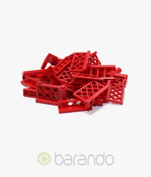 30-LEGO-Zaun-rot-gemischt-Fancy