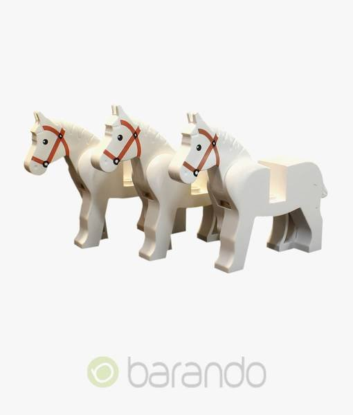 LEGO 3 Pferde 4493c01pb04 - weiß