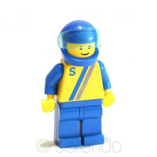 LEGO Yellow Blue-Gray Stripes s004 City