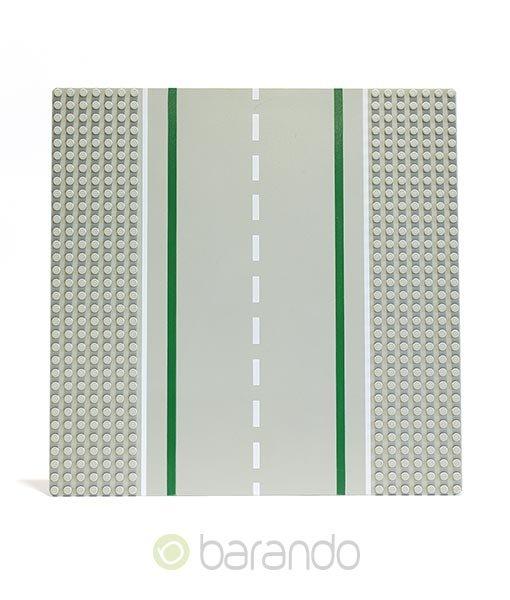 Lego Platte 2358 hellgraue Straßenplatten als Gerade