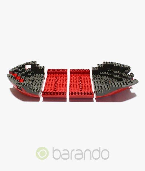 LEGO Schiffsrumpf 6289 Piratenschiff in rot