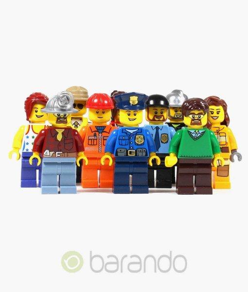10 Lego City Figuren bunt gemischt