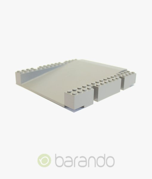 LEGO 3D Platte 2642 hellgrau Plattform Rampe