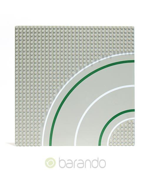 Lego Platte 2359 hellgraue Straßenplatte als Kurve