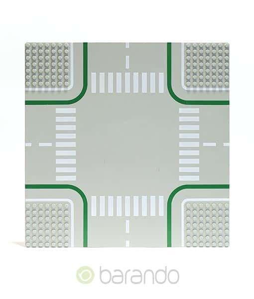 Lego Platte 2361 hellgraue Straßenplatte als Kreuzung