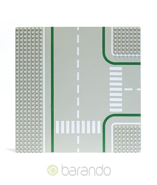 Lego Platte 2360 hellgraue Straßenplatte als T-Kreuzung
