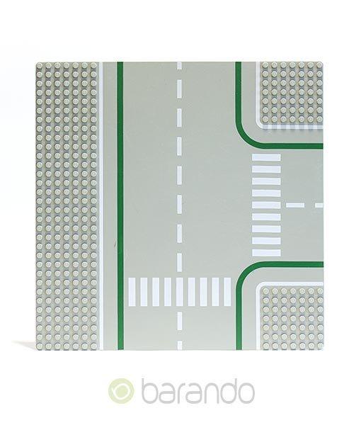 LEGO Platte 2360p01 - Straßenplatte T-Kreuzung ()