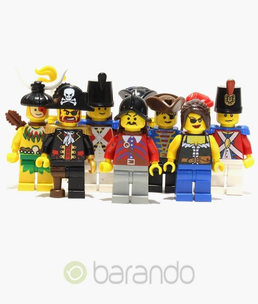 10 Lego Pirates Figuren bunt gemischt