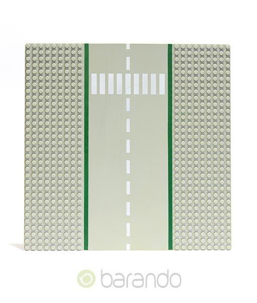 Lego Platte 606p02 hellgraue Straßenplatte Gerade