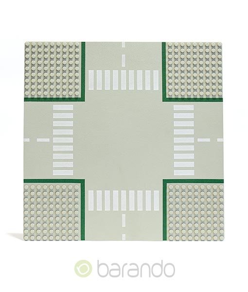 LEGO Platte 607p01 - Straßenplatte Kreuzung