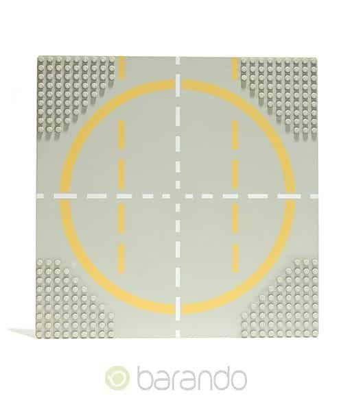 LEGO Platte 6099pb01 - Straßenplatte Landeplatz