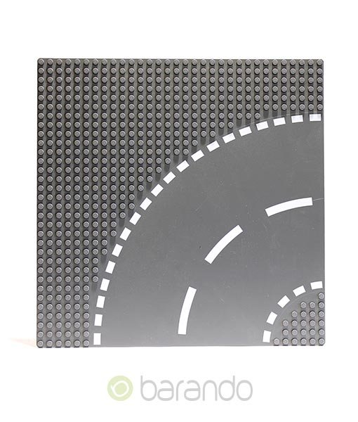 Lego Platte 44342 Straßenplatte dunkelgrau Kurve