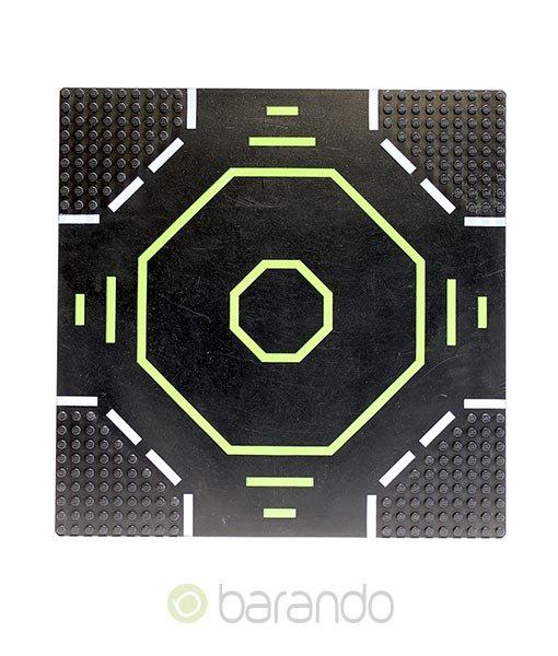 LEGO Platte 6099p02 - Straßenplatte Landeplatz Octagon