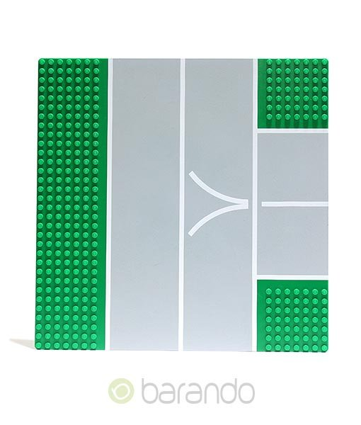 Lego Platte 2360px2 Straßenplatte grün T-Kreuzung
