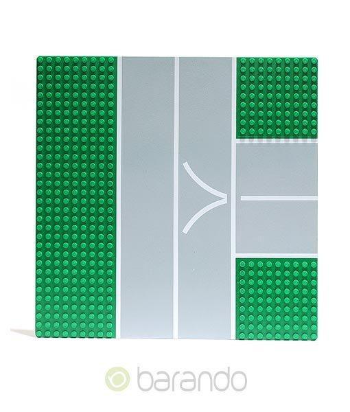 Lego Platte 608px1 Straßenplatte grün T-Kreuzung