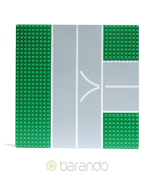 LEGO Platte 608px1 - Straßenplatte T-Kreuzung
