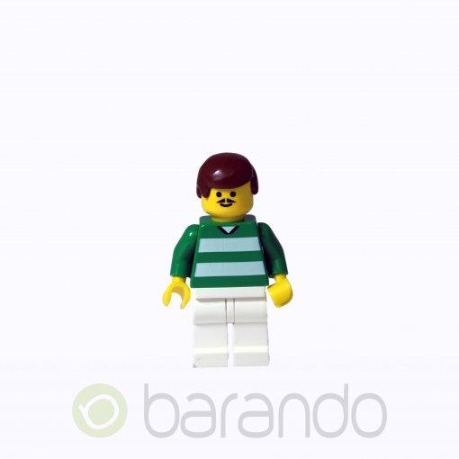 LEGO Soccer Player Green & White Team #4 on Back soc002 Soccer