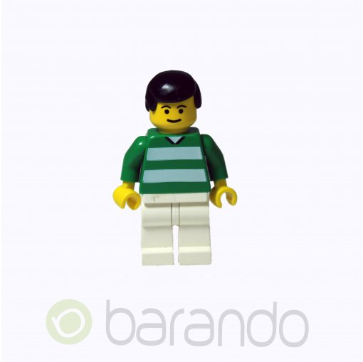 LEGO Soccer Player Green & White Team #11 on Back soc093 Soccer